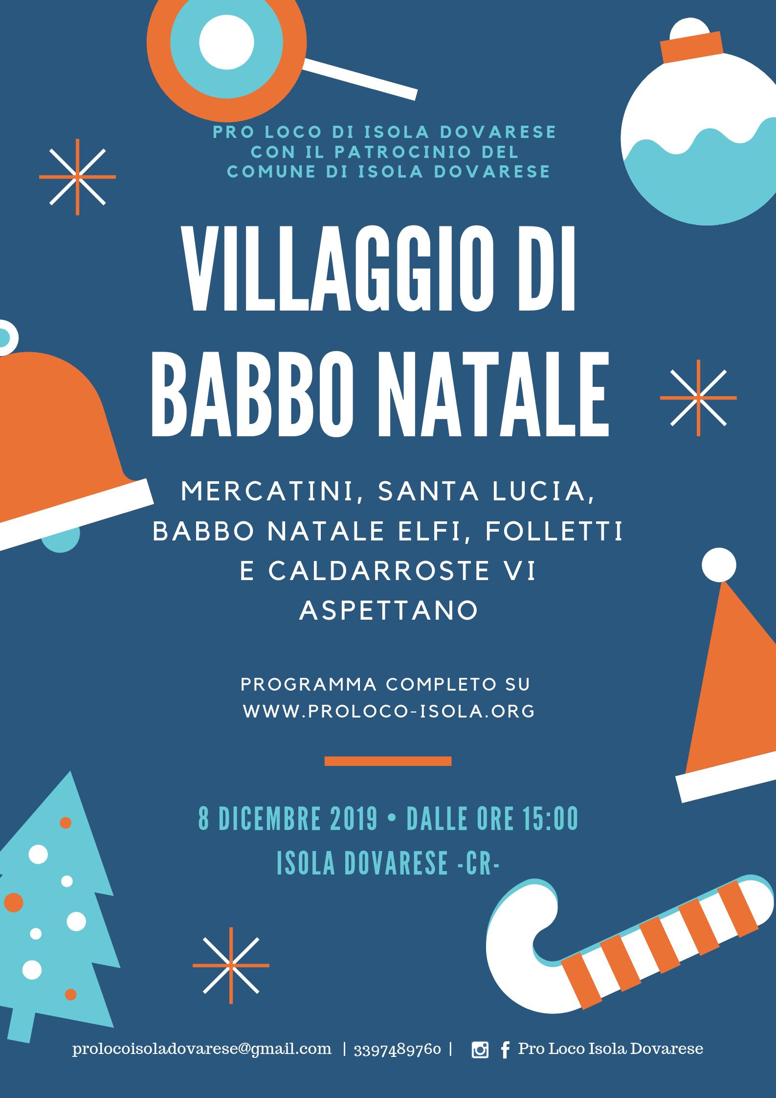 Il villaggio di Babbo Natale 2019